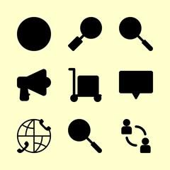 9 marketing icons set