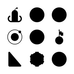 science icons set. milky, sphere, diarrhea and fall graphic works