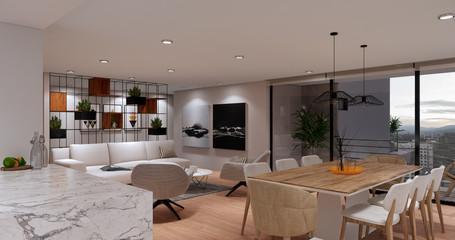Sala y comedor interior