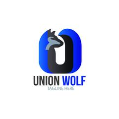 Letter U Wolf