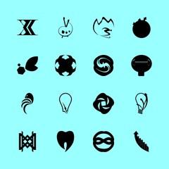 16 logo icons set