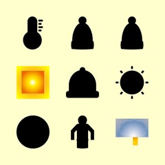 weather icons set. weather, wallpaper, beam and portrait graphic works