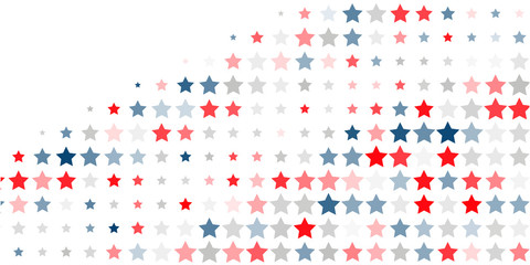 Abstract background of red, blue, white stars