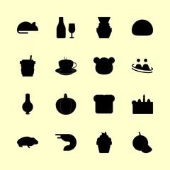 16 food icons set