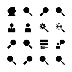 seo icons set. network, communication, teamwork and developer graphic works