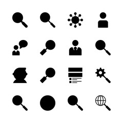 seo icons set. application, cell, browsing and male graphic works
