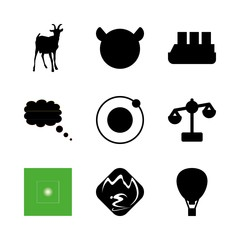 nature icons set. scales, isolated, spa and wild graphic works