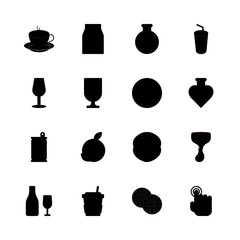 drink icons set. can, holiday, closeup and male graphic works