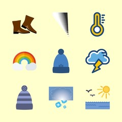 weather icons set. climate, pure, twenty and xmas graphic works