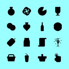 drink vector icons set. shopping basket, water filther logo, tap and carpet brand logo in this set