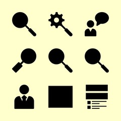 seo icons set. ux, design, person and creative graphic works