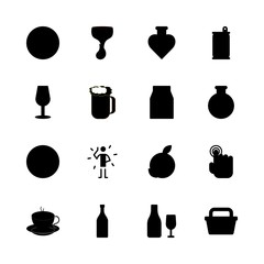 drink icons set. brown, organic, sour and club graphic works