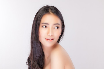 Beautiful girl with Perfect Fresh Skin.