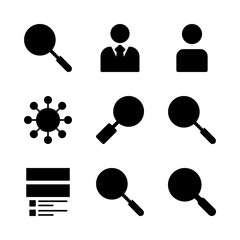 9 seo icons set