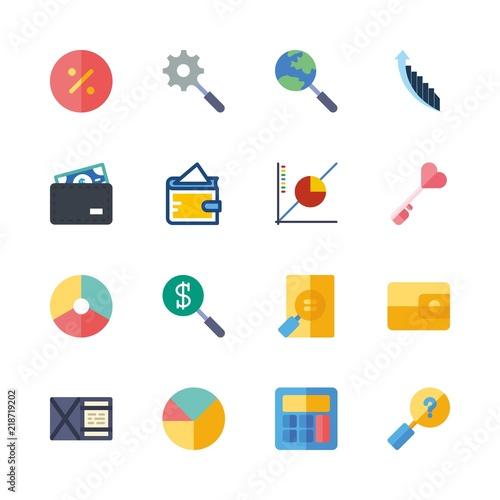 Finance Vector Icons Set Key Finance Company Logo Pie Chart And