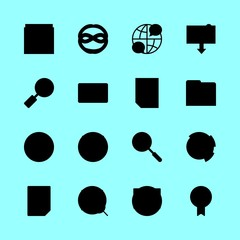 finance icons set. marketing, earn, through and wireless graphic works