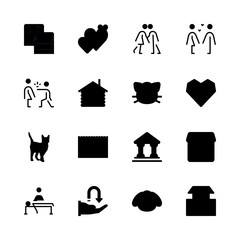 family icons set. delivering, book, 9-12 and reef graphic works