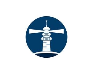 Lighthouse logo vector template