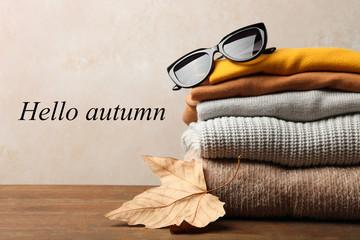 Warm autumn clothes