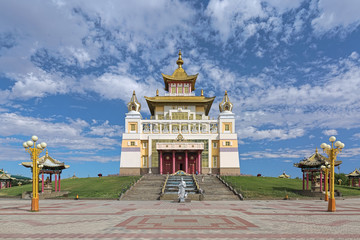 Burkhan Bakshin Altan Sume (The Golden Abode of the Buddha Shakyamuni) - the main buddhist temple of Republic of Kalmykia in Elista, Russia