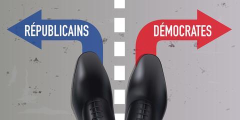 élection, américaine, états-Unis, vote, voter, républicain, démocrate, politique, parti, citoyen