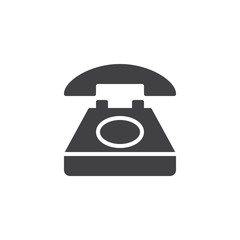Telephone vector icon. filled flat sign for mobile concept and web design. Old telephone simple solid icon. Symbol, logo illustration. Pixel perfect vector graphics