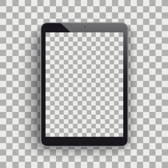Tablet PC Mockup Shadow Transparent