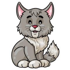 Cat Cartoon Cute Illustration of cute cartoon cat.