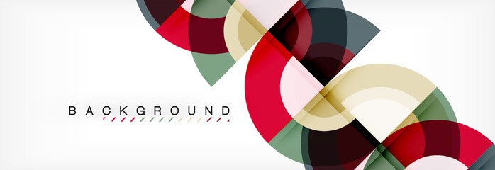 Vector circular abstract background