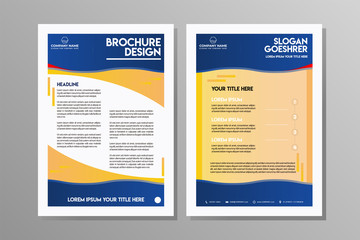 Flyer design. Business brochure template.