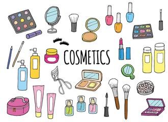 化粧品のイラストセット(カラー)