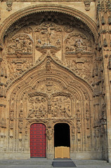 Facade of the cathedral in city Salamanca
