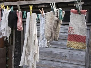 Old wool socks
