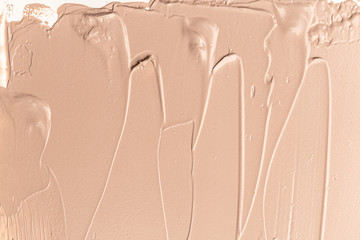 Texture of liquid foundation