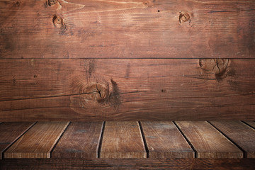 background of brown and worn old table of wood.