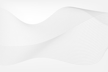 Abstract background. Wave pattern. Gray vector band lines. Curve illustration for web design, infographic, business, marketing project, presentation, report, sample, template, decoration