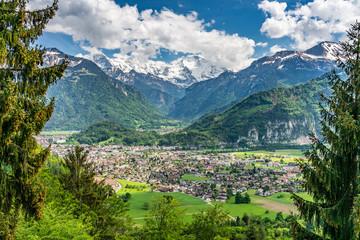 Switzerland, Interlaken panorama scenic view