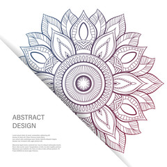 Ornament color card with mandala. Vintage decorative elements. Hand drawn background. Abstract design