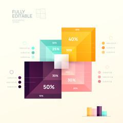 Vector infographic design template. Diagram for data presentation.