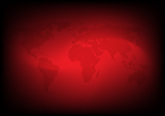 Abstract Red sci-fi background vector wallpaper