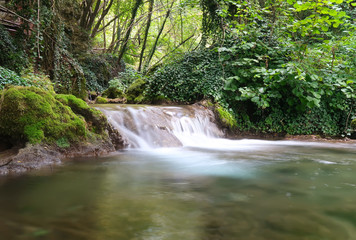 Beautiful cascade of a creek