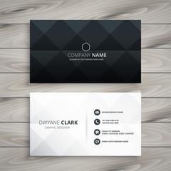 Fototapeta modern black and white business card design obraz