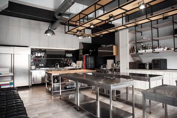 Interior of professional kitchen in restaurant