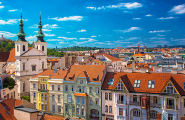 View on the old town of Brno, Czech Republic