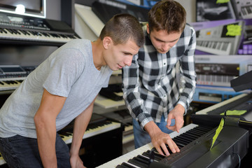 in the keyboards shop