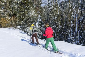 entspannende Tour im Schnee
