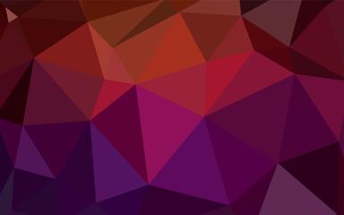 Dark Red vector polygonal template.