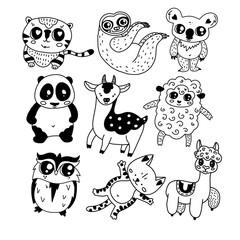 Cute doodle icon set