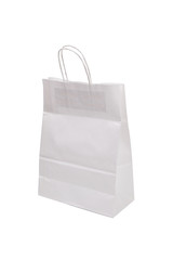 Paper shopping bag od white color