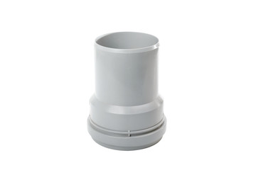 Gray PVC pipe connector